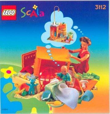 Lego SCALA GIGGLY NURSERY - 3112 (1998) - SCALA GIGGLY NURSERY BUILDING INSTR. FOR 3112