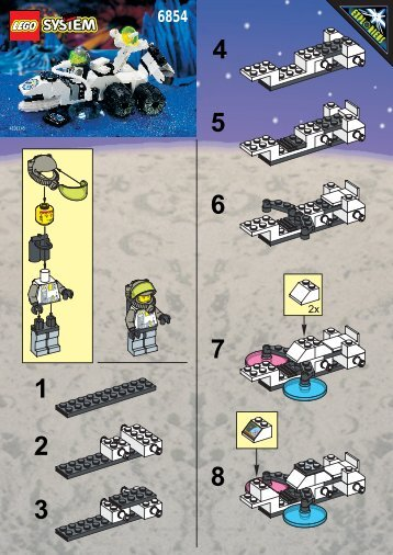 Lego GROUNDSCAN VEHICLE - 6854 (1996) - POWER ITEM-SPACE PORT BUILDING INSTR. 6854 IN