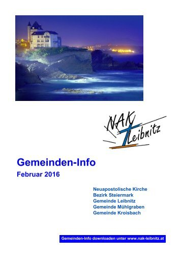 Gemeindeinfo Februar-März 2016