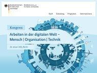 Arbeiten in der digitalen Welt – Mensch | Organisation | Technik