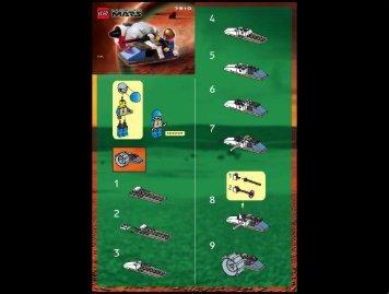 Lego Mono Jet - 7310 (2001) - Hive Crawler BUILD INST. 7310
