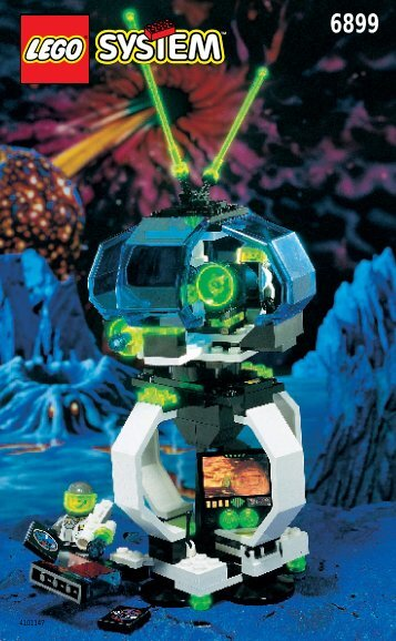 Lego MOBILE SPACE LAB - 6899 (1996) - POWER ITEM-SPACE PORT BUILDING INSTR. 6899 IN