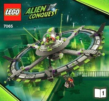Lego Alien Mothership - 7065 (2011) - LARGE UFO BI 3005/36 - 7065 V. 29/39 1/2