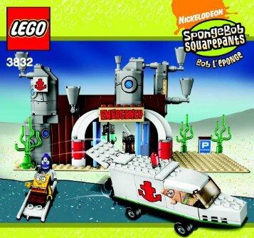 Lego SpongeBob's Emergency - 3832 (2008) - Heroic Heroes of the Deep BUILDING INSTRUC. 3005, 3832