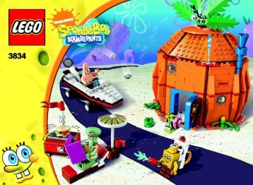 Lego Good Neighbors at Bikini Bottom - 3834 (2009) - Krusty Krab Adventures BI 3006/48 - 3834