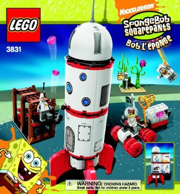 Lego Rocket Ride - 3831 (2008) - Heroic Heroes of the Deep BUILD. INSTRUCTION, 3831 NA 39