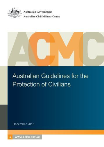 Australian Guidelines for the Protection of Civilians