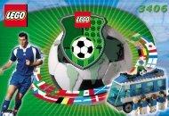 Lego Football Team Coaches - 3406 (2000) - NHL All Teams Set BUILDINGINSTR.  3406 IN