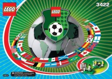Lego Shoot 'n' Save - 3422 (2002) - Main Entrance with Ground Staff BI  3422 AM