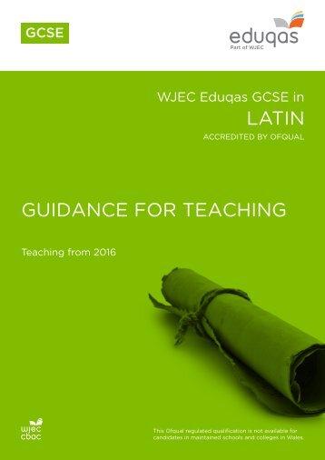 LATIN GUIDANCE FOR TEACHING