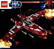Lego Republic Striker-class Starfighter™ - 9497 (2012) - Droid™ Escape BI 3017 / 64+4 - 65/115g - 9497 V29