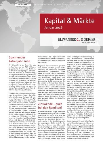 Kapital & Märkte: Ausgabe Januar 2016