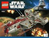 Lego Republic Frigate™ - 7964 (2011) - Republic Frigate™ BI 3016/76+4- 7964 V29/39 1/2