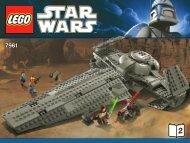 Lego Darth Maul's Sith Infiltrator™ - 7961 (2011) - Imperial V-wing Starfighter™ BI 3009/40+4-65g 7961 V29 2/2