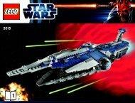 Lego The Malevolence™ - 9515 (2012) - Sith™ Fury-class Interceptor™ BI 3019/80+4*- 9515 V29/39 1/2