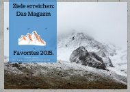 Ziele erreichen: Favoriten 2015.