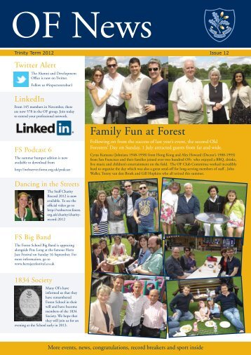 Family Fun at Forest - Old Foresters Reconnected