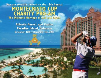 MONTECRISTO CUP CHARITY PRO-AM MONTECRISTO CUP ...