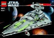 Lego Imperial Star Destroyer™ - 6211 (2006) - Millennium Falcon™ BUILDING INST.6211 1/2