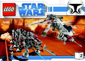 Lego Republic Dropship with AT-OT Walker™ - 10195 (2009) - Ultimate Collector's AT-ST™ BI 3008/72+4-10195 V46/39-2/3