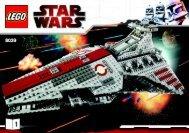 Lego Venator-class Republic Attack Cruiser (TM) - 8039 (2009) - Venator-class Republic Attack Cruiser (TM) BI 3008/72+4-8039 1/2