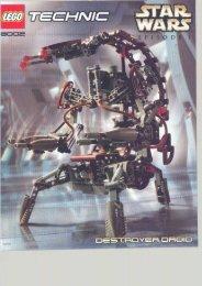 Lego Destroyer Droid™ - 8002 (2000) - Republic Frigate™ BUILDING INST. 8002