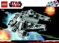 Lego Mid-scale Millennium Falcon™ - 7778 (2009) - Count Dooku's Solar Sailer™ BI 3006/48 - 7778