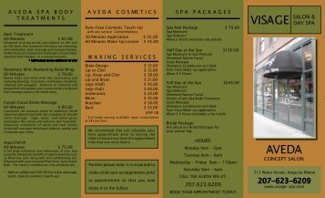 VED V V VIS GE V - Visage Salon & Day Spa