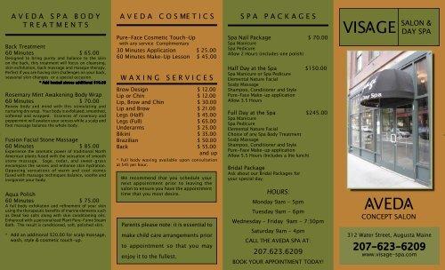 VED V V VIS GE V - Visage Salon & Day Spa