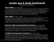 aveda spa & body treatments - Salon Elegance