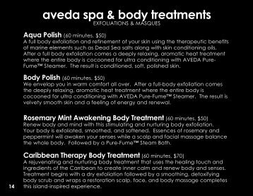 aveda spa & body treatments - Salon Elegance