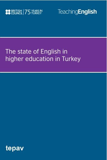 The state of English in higher education in Turkey