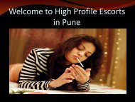 Adult Entertainment Services at Pune