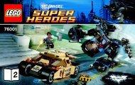 Lego The Bat vs. Bane™: Tumbler Chase - 76001 (2013) - Hulk's™ Helicarrier Breakout BI 3004/56 - 76001 BOOK 2/2 V29
