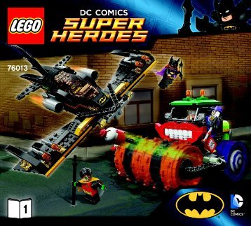 Lego Batman™: The Joker Steam Roller - 76013 (2014) - Iron Man™: Malibu Mansion Attack BI 3017 / 56 - 65g-76013 1/2 V29