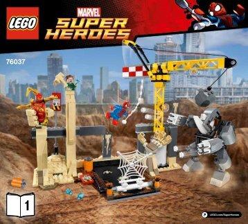 Lego Rhino and Sandman Super Villain Team-up - 76037 (2015) - Darkseid Invasion BI 3017 / 60 - 65g 76037 V29 1/2