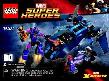 Lego X-Men vs. The Sentinel - 76022 (2014) - Captain America vs. Hydra BI 3022/32-65G, 76022 1/2 V39
