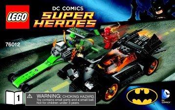 Lego Batman™: The Riddler Chase - 76012 (2014) - Iron Man™: Malibu Mansion Attack BI 3004/36-76012 1/2 V39