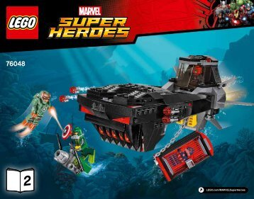 Lego Iron Skull Sub Attack - 76048 (2016) - Ant-Man Final Battle BI 3018/56/65g, 76048 BOOK 2/2 V39