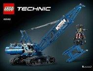 Lego Crawler Crane - 42042 (2015) - Race Truck BI 3019/236+4/65+200g, 42042 V29 / V39
