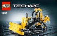 Lego Crawler Crane - 9391 (2012) - Barcode Truck 9391 Bulldozer