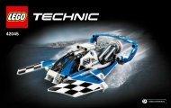 Lego Hydroplane Racer - 42045 (2015) - Race Truck BI 3004 60, 42045 1/2 V39
