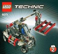 Lego Bucket Truck - 8071 (2011) - Mobile Crane 8071 Telehandler 2/2
