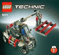 Lego Bucket Truck - 8071 (2011) - Mobile Crane 8071 Telehandler 1/2