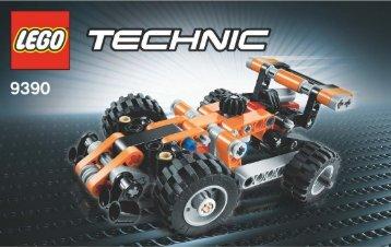 Lego Mini Tow Truck - 9390 (2012) - Barcode Truck 9390 Mini Race Car