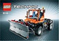 Lego Unimog U400 - 8110 (2011) - Flatbed Truck 8110 Snow Plow #1