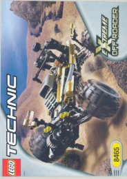 Lego Extreme Off-roader - 8465 (2001) - Back-hoe Loader BI  8465