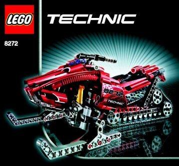 Lego Snow Mobile - 8272 (2006) - Snow Mobile BUILD.INST-8272 MODEL 1 IN