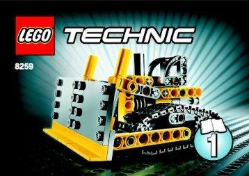 Lego Mini Bulldozer - 8259 (2009) - Mini Bulldozer BI 3001/24 -
