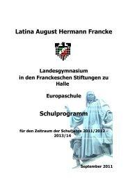 1. Leitlinien (siehe Schulkonzept) - Latina August Hermann Francke